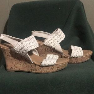 Cream colored wedges